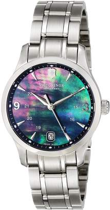 Victorinox Women's 249063 Alliance Analog Display Swiss Quartz Silver Watch