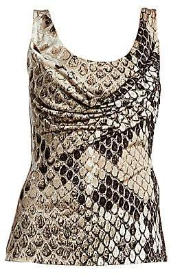 Roberto Cavalli Women's Python Print Knit Tank Top