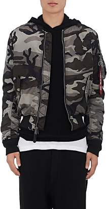 Alpha Industries Men's MA-1 Reversible Tech-Twill & -Satin Bomber Jacket