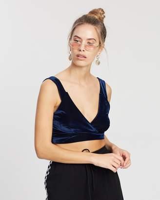 Missguided Shiny Velvet Bralette