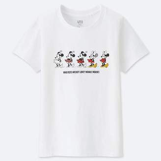 Uniqlo Women's Celebrate Mickey Short-sleeve Graphic T-Shirt