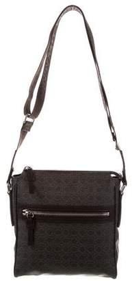Salvatore Ferragamo Leather-Trimmed Messenger Bag