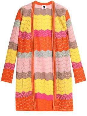 M Missoni Metallic Crochet-Knit Cotton-Blend Cardigan