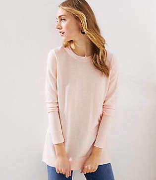 LOFT Side Slit Tunic Sweater