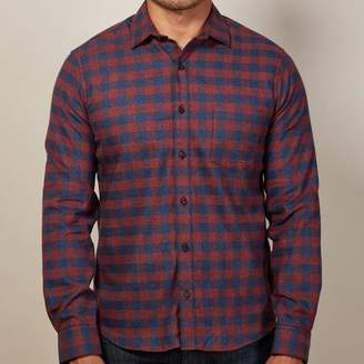 Blade + Blue Burgundy & Navy Buffalo Check Flannel Shirt - Donald