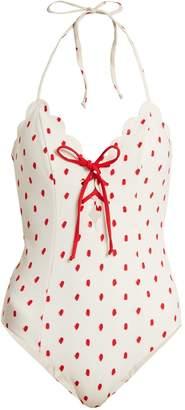 Marysia Swim Broadway lace-up swimsuit