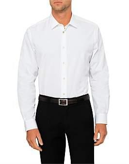 Paul Smith Cotton Poplin Plain Single Cuff Shirt