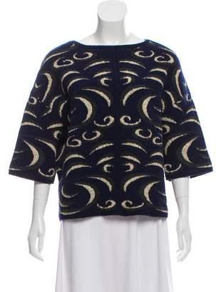 Diane von Furstenberg Wool & Alpaca Blend Patterned Heavy Sweater