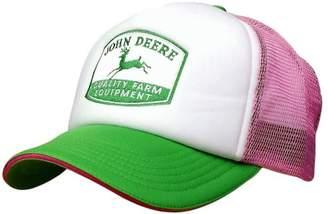 John Deere Western Hat Womens Mesh Back Foam Front OS Pink 23080697