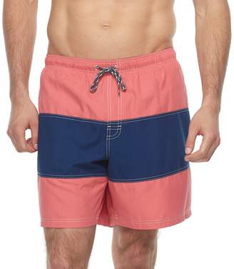 Croft & Barrow Big & Tall Colorblock Swim Trunks