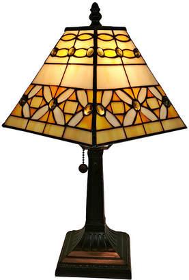 Tiffany & Co. AMORA Amora Lighting AM207TL08 Style Jeweled Finish Mission Table Lamp 15 inches
