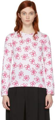 Comme des Garcons White Flower Print Shirt