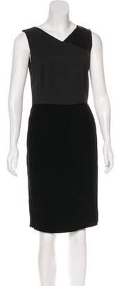 Etro Velvet-Paneled Sheath Dress