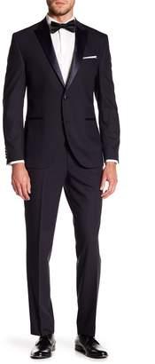 Kenneth Cole Reaction Blue Two Button Peak Lapel Tuxedo Suit