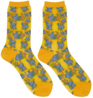 Y's Ys Yellow Tesugu Flower Socks