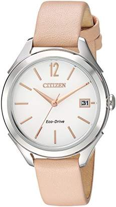 Citizen Women's 'Drive' Quartz Stainless Steel and Leather Casual Watch