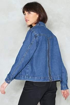 Nasty Gal Back to It Zip Denim Jacket