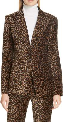 A.L.C. Mercer Marina Leopard Print Jacket