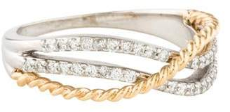 Ring 14K Diamond Crossover Band