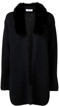 Blugirl fox fur-trimmed cardigan