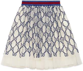 badae34cb Gucci Children's GG embroidered tulle skirt
