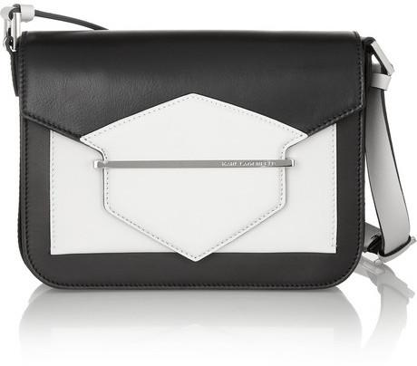 Karl Lagerfeld K/KHIC two-tone leather shoulder bag