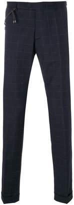 Berwich windowpane check trousers