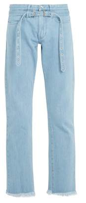 Marques'almeida - Belted Double Loop Denim Jeans - Mens - Blue