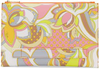 Emilio Pucci geometric floral printed clutch