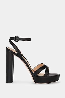 Gianvito Rossi Women's Poppy Leather Platform Sandals - Black