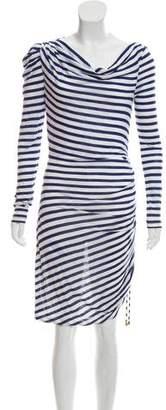 ALICE by Temperley Stripe Long Sleeve Dress