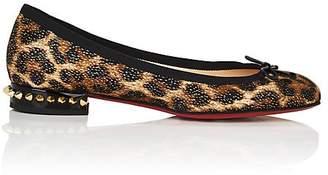 Christian Louboutin Women's La Massine Leopard-Print Flats
