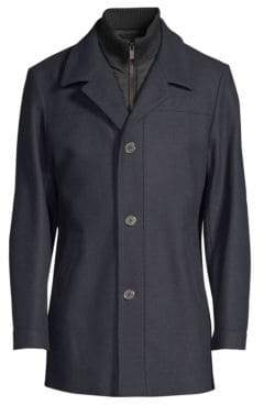 HUGO Regular-Fit Barelto Wool-Blend Trench Coat