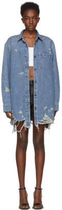 Alexander Wang Indigo Oversized Denim Shirt Jacket