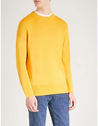 Sandro Crewneck silk and cotton-blend jumper
