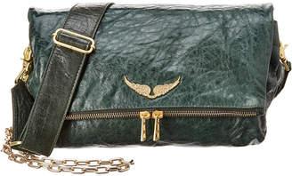 Zadig & Voltaire Rocky Crush Leather Shoulder Bag