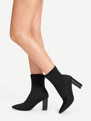 32890720a5 Pointed Toe Shoes With Chunky Heel - ShopStyle