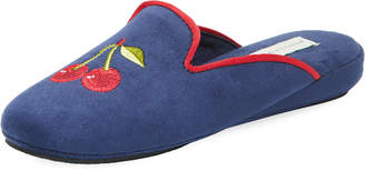 Patricia Green Cherry-Embroidered Slipper