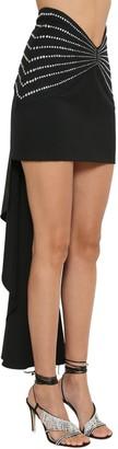 ATTICO Embellished Wool Gabardine Mini Skirt