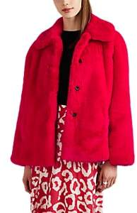 Opening Ceremony Women's Faux-Fur & Faux-Suede Oversized Jacket - Red