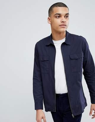Selected Homme+ Zip Through Shirt Jacket