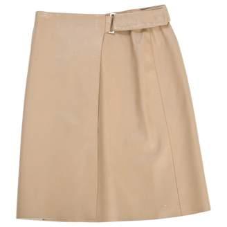 John Richmond Brown Leather Skirts