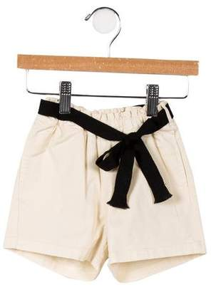 Babe & Tess Girls' Tie-Accented Woven Shorts w/ Tags