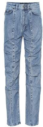 Y/Project Ruffled straight-leg jeans