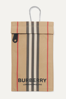 Burberry Checked Canvas Pouch - Beige