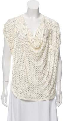 75474bb96750bf Haute Hippie Embellished Cowl Neck Top