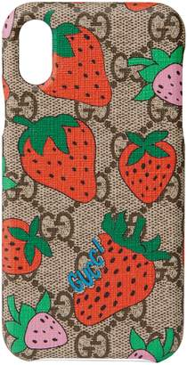Gucci iPhone X/XS case with Strawberry