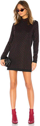 Adam Selman Mock Neck Mini Dress