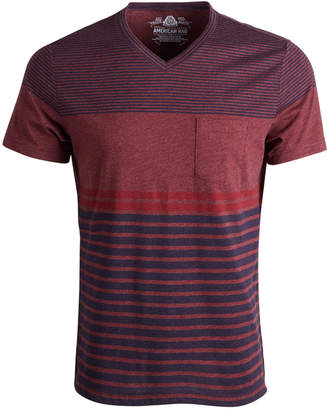 American Rag Men's Striped V-Neck T-Shirt