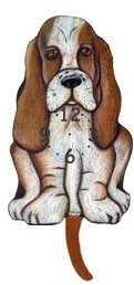 Breed Dog Pendulum Clock - Basset Hound